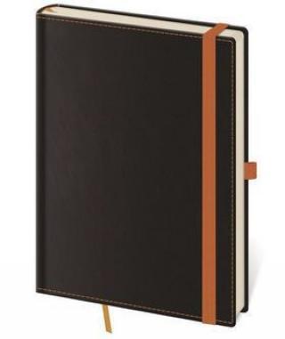 Linkovaný zápisník Black Orange L