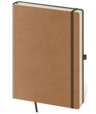 Linkovaný zápisník Flexies L hnědý