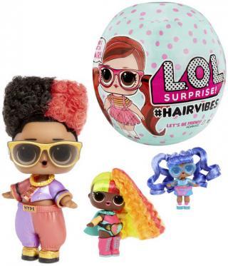 L.O.L. Surprise panenka Hairvibes česatice 15 překvapení v kouli různé druhy