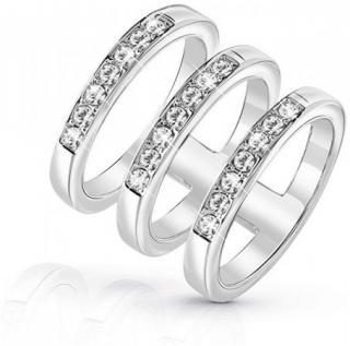 Luxusní trojitý prsten UBR84036, 54, mm