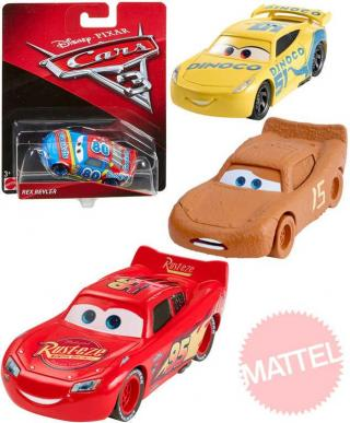 MATTEL Autíčko velké Cars 3  jednotlivé různé druhy na kartě plast