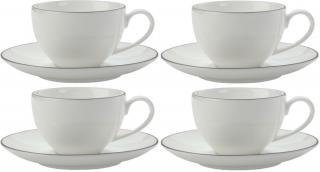 Maxwell & Williams Espresso šálek a podšálek 100 ml White Basics Edge, 4 ks - rozbaleno