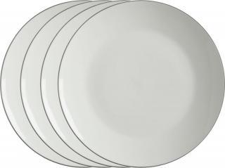Maxwell & Williams Mělký talíř 27,5 cm White Basics Edge, 4 ks - rozbaleno