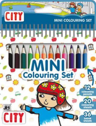 Město - Mini set s pastelkami