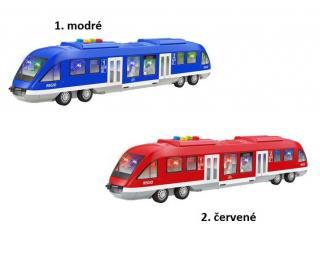 Metro/vlak plast 44cm na baterie se světlem se zvukem 2 barvy…