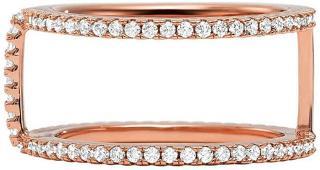 Michael Kors Třpytivý růžově pozlacený prsten se zirkony MKC1113AN791 57 mm