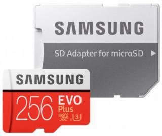 Micro SDXC 256GB Samsung EVO Plus   SD adaptér