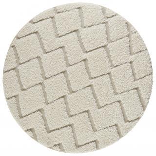 Mint Rugs - Hanse Home koberce Kusový koberec Handira 103915 Cream/Beige - 160x160 kruh cm Bílá