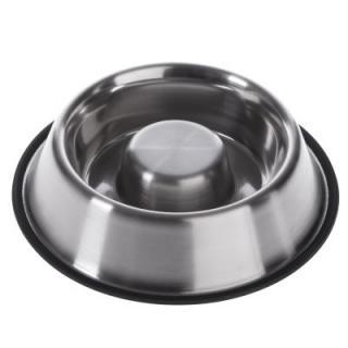 Miska z ušlechtilé oceli redukující hltání - 530 ml, Ø 22,5 cm