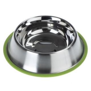 Miska z ušlechtilé oceli Silver Line Grün Zooplus Edition - Výhodná sada: 2 x 450 ml