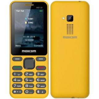 Mobilní telefon MaxCom MM139 žlutý