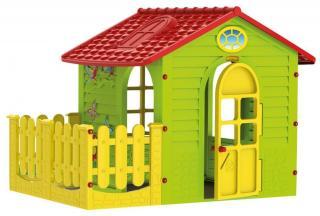 Mochtoys Zahradní domek s plotem - zánovní