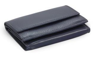 Modrá dámská kožená mini peněženka Lilliana