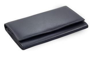 Modrá dámská kožená psaníčková peněženka Adelaide