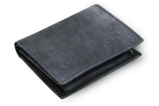 Modrá pánská kožená JEANS peněženka Raffael