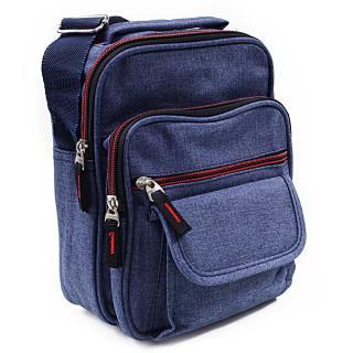 Modrá pánská praktická crossbody taška Edric
