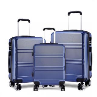 Modrý cestovní kvalitní set kufrů 3v1 Perfei