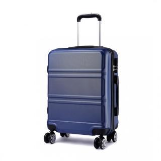 Modrý cestovní střední kufr se zámkem a otočnými kolečky Perfei