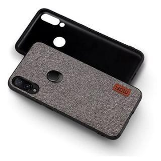 MoFi Fabric Back Cover Xiaomi Redmi Note 7 Šedé