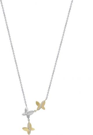 Morellato Ocelový bicolor náhrdelník s motýlky SAHO04