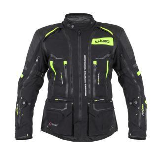 Moto bunda W-TEC Aircross černá-fluo žlutá - L