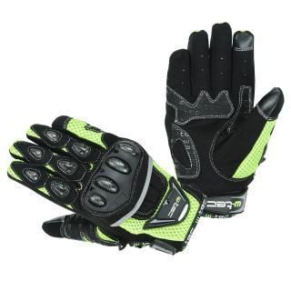 Moto rukavice W-TEC Upgear černá-fluo - M