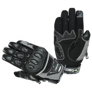 Moto rukavice W-TEC Upgear černo-šedá - S