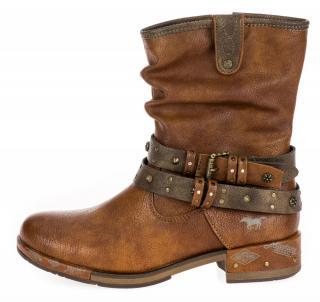 Mustang dámská kotníčková obuv 1332503-1 37 hnědá