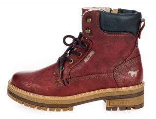 Mustang dámská kotníčková obuv 1344603-1 38 červená