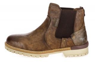 Mustang pánská kotníčková obuv 4142501 42 hnědá