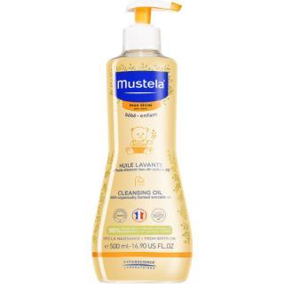 Mustela Bébé Dry Skin čisticí olej pro děti od narození 500 ml