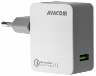 Nabíječka do sítě Avacom HomeMAX, 1x USB (3A), s funkcí rychlonabíjení QC 3.0 bílá
