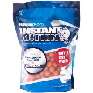 Nash Boilies Instant Action Monster Crab 200 g, 15 mm