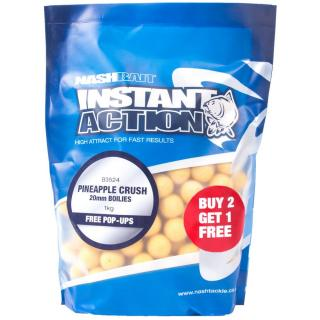 Nash Boilies Instant Action Pineapple Crush 1 kg, 15 mm