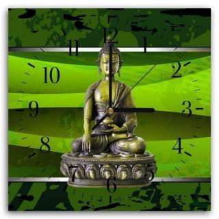 Nástěnné hodiny - Buddha In Color 40x40 cm