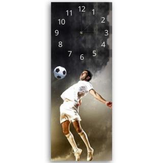 Nástěnné hodiny - Footballer 25x65 cm