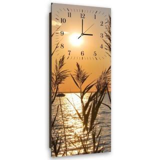 Nástěnné hodiny - Reeds At Sunset 30x90 cm