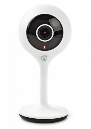NEDIS IP Kamera/ Wi-Fi/ 720p/ micro USB/ MicroSD/ Android/ iOS/ adaptér/ bílá, WIFICI05CWT