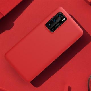 Nillkin Flex Pure Liquid Silikonové Pouzdro pro Huawei P40 Red