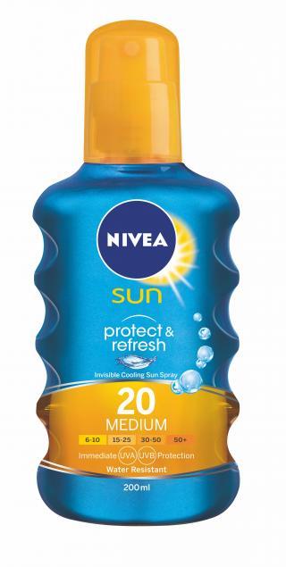NIVEA SUN Neviditelný sprej na opalování Protect&Refresh OF20 200ml
