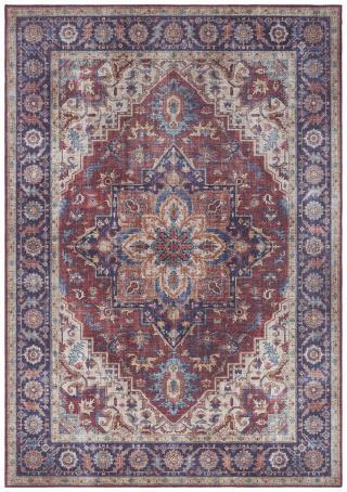 Nouristan - Hanse Home koberce Kusový koberec Asmar 104000 Plum/Red - 80x200 cm Vícebarevné