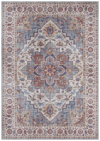 Nouristan - Hanse Home koberce Kusový koberec Asmar 104002 Cyan/Blue - 80x200 cm Vícebarevné