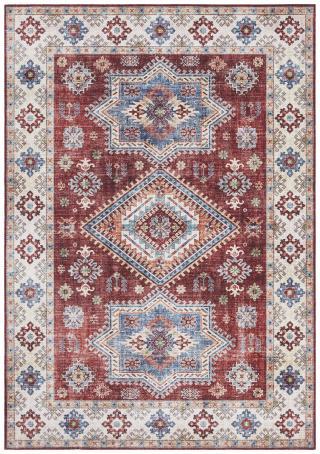 Nouristan - Hanse Home koberce Kusový koberec Asmar 104008 Ruby/Red - 80x200 cm Červená
