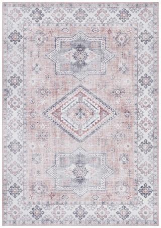 Nouristan - Hanse Home koberce Kusový koberec Asmar 104009 Old/Pink - 80x200 cm Bílá