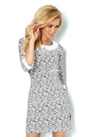 Numoco Dámské šaty 111-3   dárek zdarma, černá, XL