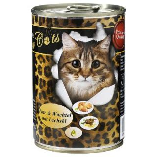 O´Canis pro kočky 6 x 400 g - Kachna & kuře se světlicovým olejem