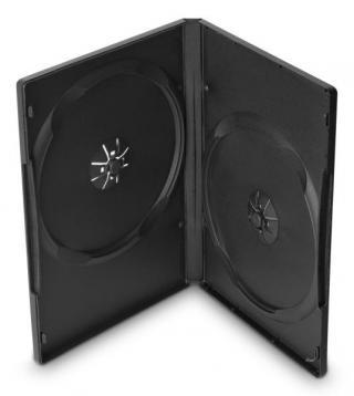 Obal Cover IT pro 2 DVD, 14mm, 10ks/bal černý