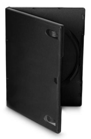 Obal Cover IT pro DVD, 14mm, 10 ks/bal černý