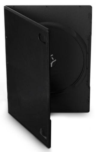 Obal Cover IT pro DVD, 7mm, slim, 10ks/bal černý