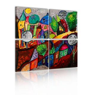 Obraz na plátně - Barevné městečko